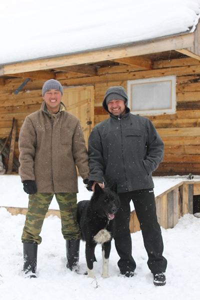 Павел Бардаханов и Михаил Абжибаров с Нордом (Загрей)