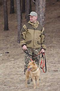 Бурындин А.С с карело-финской лайкой Бюти Фокс